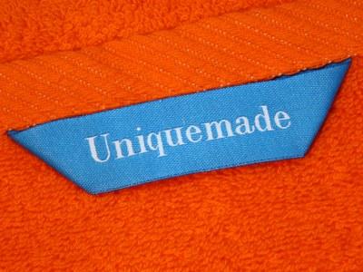 Håndklæder med logo i stroppen