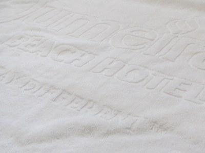 Jacquardvævet reklamehåndklæde
