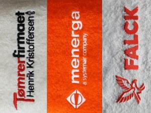 Håndklæder med broderet logo
