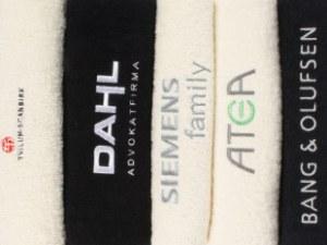 Håndklæder med logo broderi