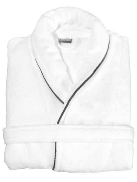Badekåbe, hvid, bomuld, PES, foldet
