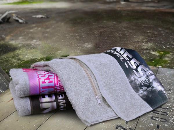 Fitness håndklæde med lomme